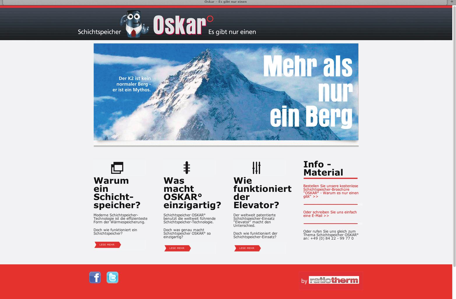 OSKAR_Es gibt nur einen_Schichtspeicher Einsatz