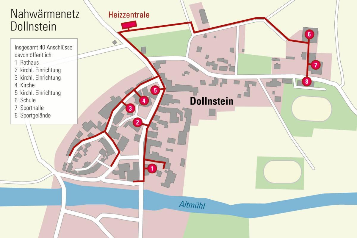 Übersichtsplan Nahwärmenetz Dollnstein_Energy-Mag